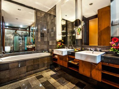 family suite bathroom hotel kuta seaview boutique resort and spa
